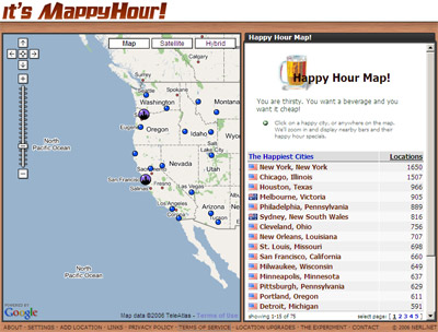 MappyHour - Happy Hour Map!