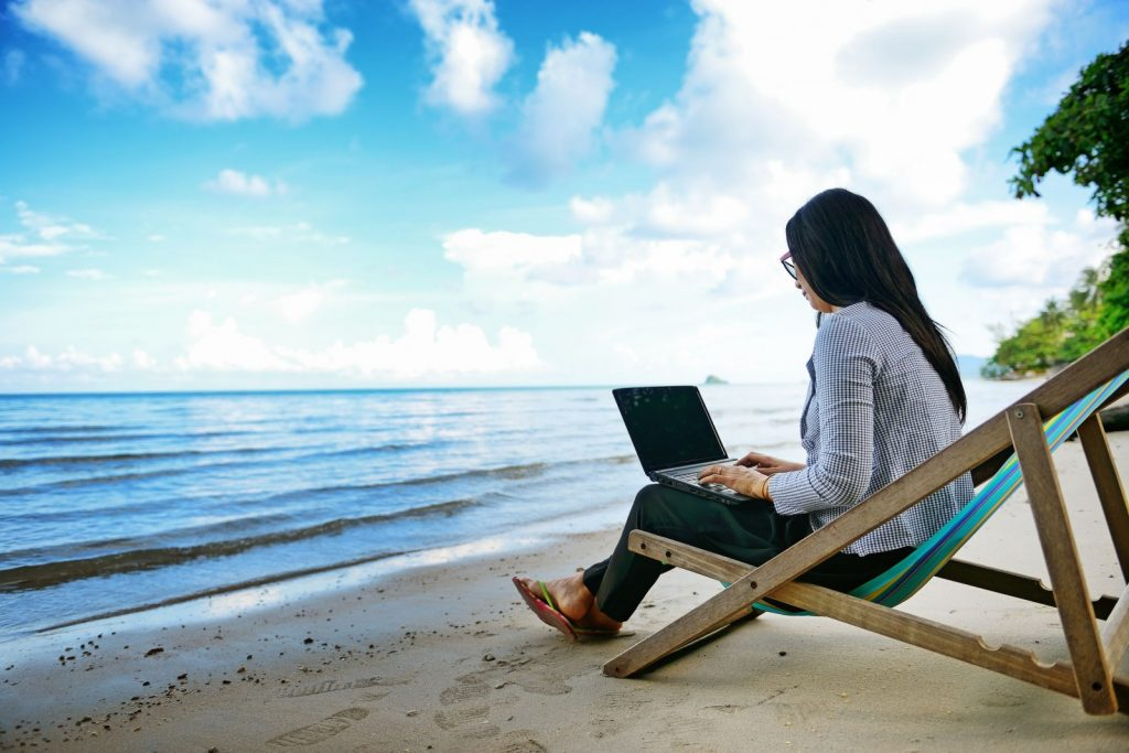 working-on-the-beach